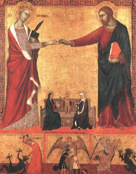 The Mystical Marriage Of Saint Caherine